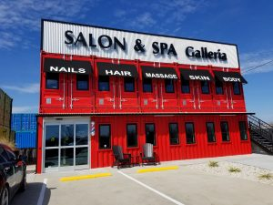 Salon Made Out of Converted Shipping Containers
