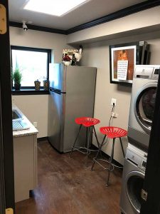salon laundry room